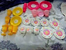 Barbie 25 Plastic Children's Tea & Food Set Vintage