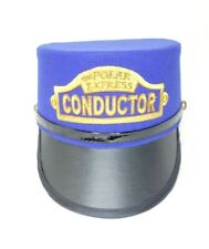 The Polar Express Hat Lionel Train Conductor Hat Blue Youth Polar Express Train
