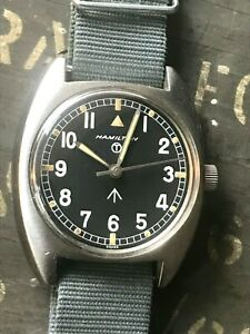 Serviced - Hamilton W10 British Army 1973 issued - hacking seconds