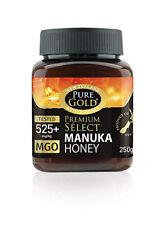 New Zealand Pure Gold Premium Select Manuka Honey 525+ Mgo 250g Active Honey