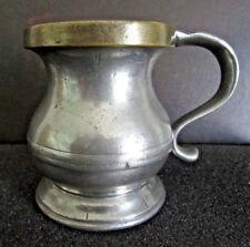 19th Century Pewter Gill~Brass Rim~Very Rare~Original Marshall Field & Co.Tag