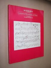 SOTHEBY'S AUCTION CATALOGUE. CONTINENTAL MANUSCRIPTS & MUSIC. LONDON MAY 1994