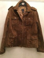 Ladies size L/G PAC 40 Inch Chest Brown suede jacket Towie/festival/boho RRP £ 85
