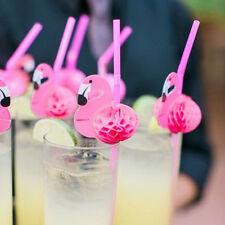 10pcs Papier Strohhalme hHchzeit Geburtstag Flamingo Getränke Party Fotos Vor