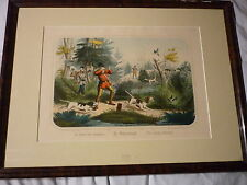 LITHOGRAPHIE LITHOGRAPHY  19 ème CHASSE A LA BECASSINE SNIPE SHOOTING WENTZEL