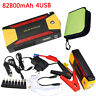 82800mAh Portable Car Jump Starter 4 USB Power Bank Pack Booster Battery Charger