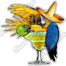 "Margarita Parrot Tropical Bird Party Bar Car Bumper Vinyl Sticker Decal 4.6"""