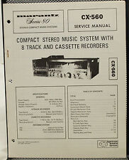 OEM Marantz CX-560 Compact Stereo Music System & Tape Recorder Service Manual