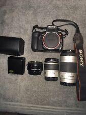 SONY Alpha a350 14.2MP Digital Camera + MIN AF 28-80,75-300mm Lens,2x Converter