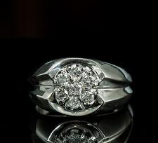 Men's 10K White Gold Diamond Cluster Ring