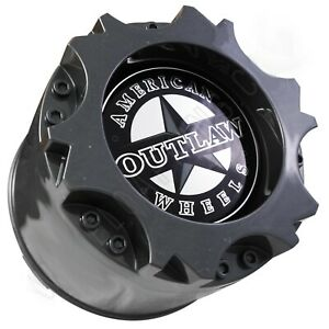American Outlaw Wheels Gloss Grey Wheel Center Cap # BC-894 (1 CAP) NEW SNAP IN