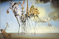 Framed Print - Salvador Dali The Temptation of St. Anthony (Painting Picture)