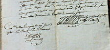 1740 manuscript justice document AMAZING SIGNATURES stamps complete 4p letter