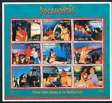 Guyana 1995 Pocahontas sheet SG 4404/12 MNH