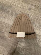 NWT Men's Brunello Cucinelli Light Brown Beanie Size M Retail $425