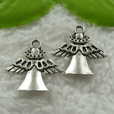 Free Ship 100 pieces tibet silver angel charms 23x22mm #1153