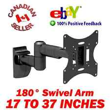 "17-37"" LCD TV Monitor Wall Mount ±15° Tilt 180° Swivel arm 19 21 22 24 26 27 32"""