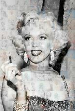 MARILYN MONROE 2014 photo mosaic cm. 30x41poster with a lot of pics C