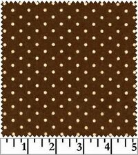 Shadow Play  Woolies  Flannel - Brown Dots F18131-A