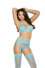 Sheer Thigh Hi by Elegant Moments One Size Sky Blue