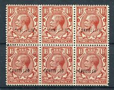 GV SG 420 SCOTT 189 BL OF 6 OVPT CANCELLED TYPE 28 5 MNH/1 MH SEE SCANS