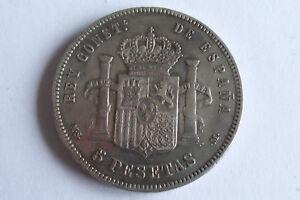 Espagne 5 Pesetas 1885 MSM