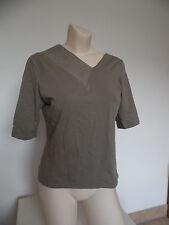 Oblique Italien edles Shirt Baumwolle Leinen Braun Gr. It 2 Dt. S M 36 38