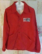 Vintage 1960s Champion Spark Plugs Official Windbreaker/Track Jacket, Red, Med