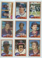 1981 TOPPS and TOPPS TRADED CLEVELAND INDIANS TEAM SETS (30 Cards) BLYLEVEN