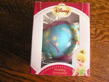 "Disney Holiday Ornament TINKERBELL Disney Fairies 2.5"" Diameter Ball~~NIP!"