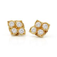 CARTIER 18K YELLOW GOLD DIAMOND INDE MYSTERIEUSE EARRINGS COM1738
