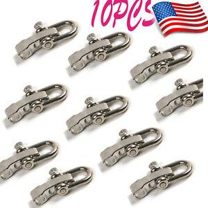 10Pc U Shaped Flat Adjustable SHACKLE Buckle for Paracord Bracelet