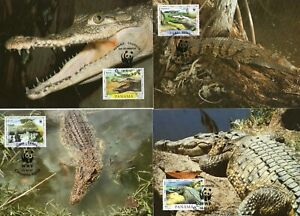 Panama 1997 WWF Spitzkrokodil set of 4 MK/MC