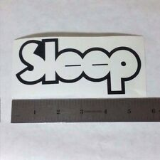 SLEEP Vinyl DECAL STICKER BLK/WHT/RED Heavy Doom Metal BAND Logo Window Guitar