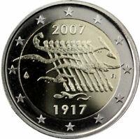 manueduc  2 EUROS FINLANDIA  2007 CONMEMORATIVOS  90 Aniversario  INDEPENDENCIA
