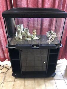 aquarium de 100 L Avec Meubles, Déco, Pompe, à prendre sur place (44840)