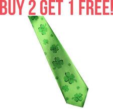 Irish Ireland St Patrick's Day Four Leaf Clover Shamrock Tie Souvenir Gift