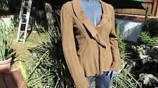 Scully Leather L502 Mink Ruffled Boar Suede Jacket   (M)
