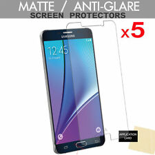 5 Pack ANTI GLARE MATTE Screen Protector Cover Guards for Samsung Galaxy Note 5