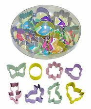 New listing Sale! Mini Easter Cookie Cutter Set ~ 8 Polyresin Steel Cutters (New)