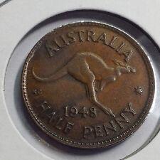 AUSTRALIA 1948 ONE HALF PENNY NICE COIN