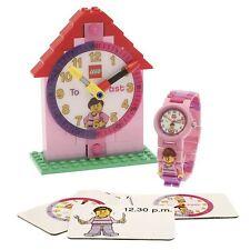 Lego Uhr Zeit Lehrer pink Mädchen First Watch 9005039