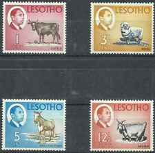 Timbres Animaux Lesotho 132 - 135 - 136 - 138 ** (38586A)
