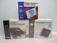 NEW SEALED LOT OF VINTAGE INTEL PENTIUM & OVERDRIVE PROCESSORS DX4 133MHz 200MHz