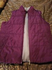 Made For Life Women Purple Sleeveless Vest Size Small
