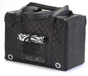 Sherpa Park Tote Pet Carrier Small Black