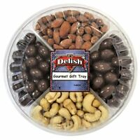 Gourmet Gift Tray 4-Section with Assorted Chocolate and Nuts by It's Delish