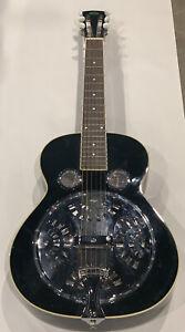 Vintage Black Regal Dobro Resonator Guitar