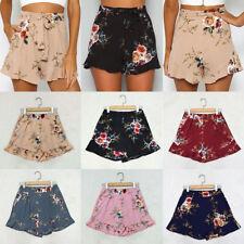 Summer Women Lady Beach High Waisted Floral Short Hot Pants Casual Shorts