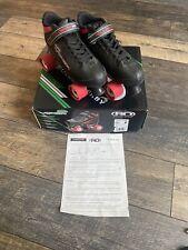 NIB Roller Derby M4 Viper size 8 Speed Quad Skates Indoor/Outdoor Black/Red
